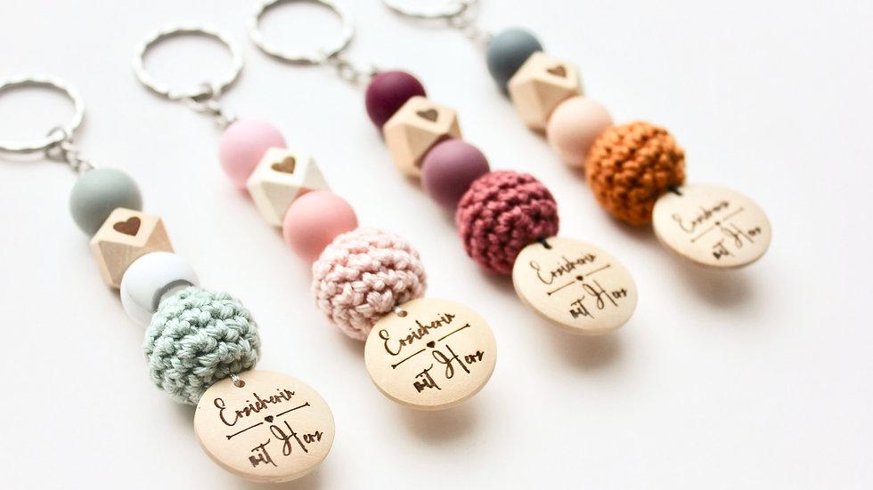 Schlüsselanhänger Erzieherin mit Herz