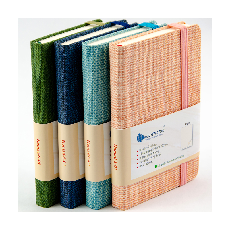 Displaying Nguyen Trac Nomads A6 sized Noteook with 4 colors