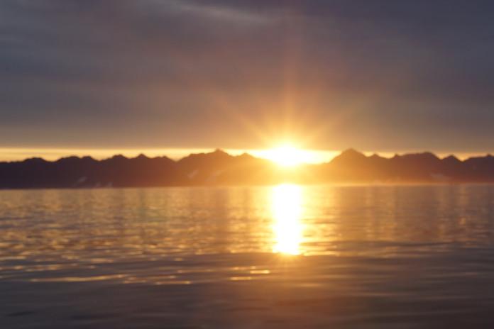 sunrise east greenland coast