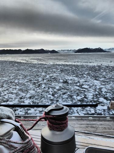 Crossing an area of brash ice