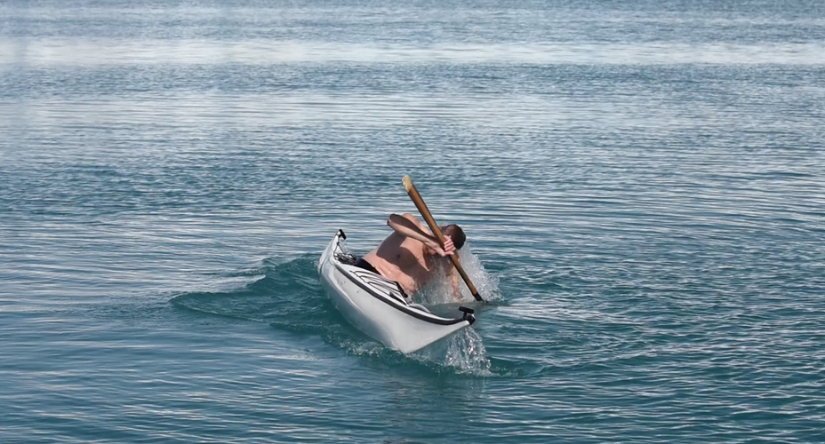Rolling the kayak