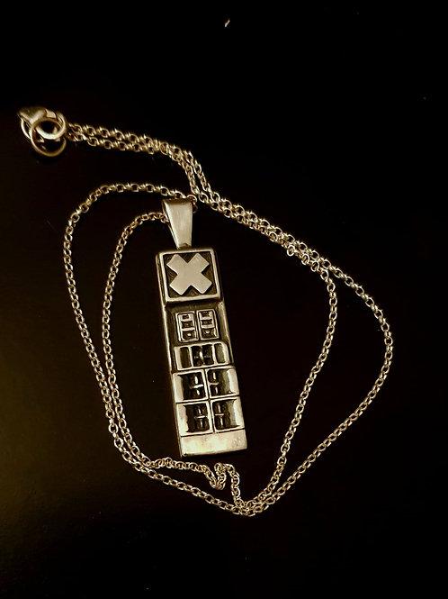 Irritant X pendant w/chain