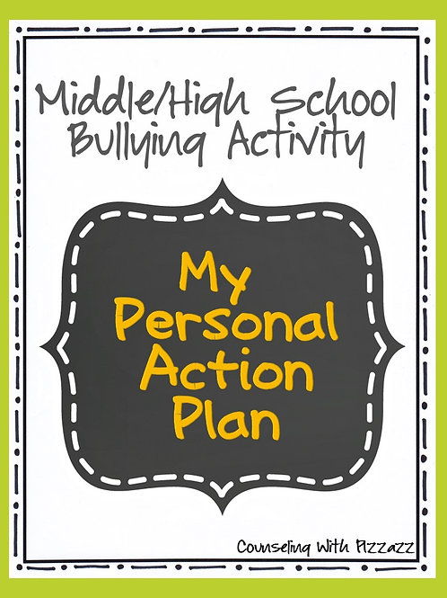 Personal Action Plan Anti-Bullying Activity