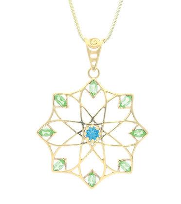 Alhambra Pendant, Topaz and Peridot