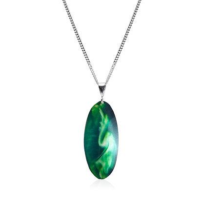 Aurora Pendant, Green Swirl