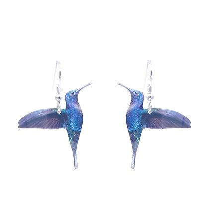 Blue Hummingbird Earrings