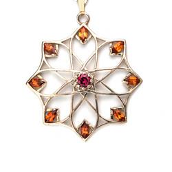 Alhambra Rhodolite Garnet Pendant