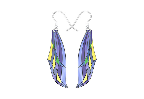 Modernist Leafy Lake Earrings