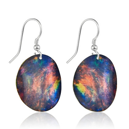 Black Opal Design Earrings