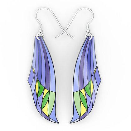 Modernist Leafy Sky Earrings