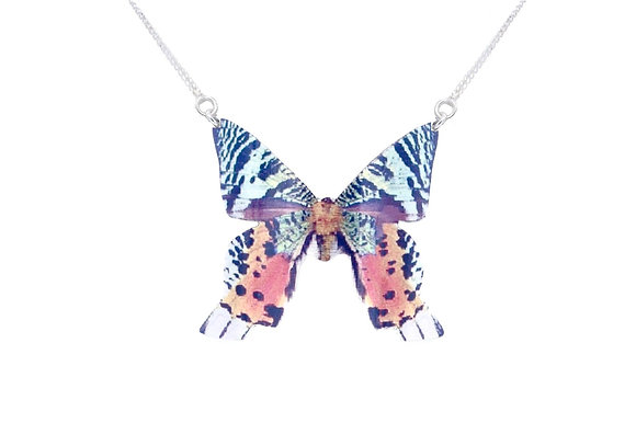 Madagascar Sunset Butterfly Necklace