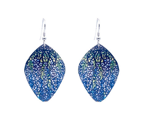 Wisteria Stained Glass Pattern Earrings