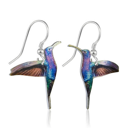 Blue Hummingbird Earrings