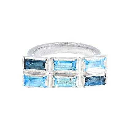 Colour Wash Ring - Blue Topaz