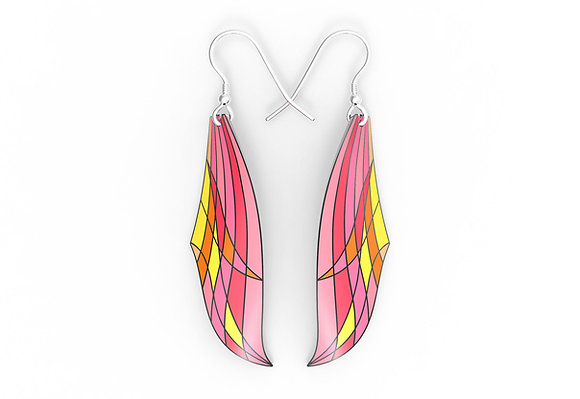 Modernist Flame Design Earrings