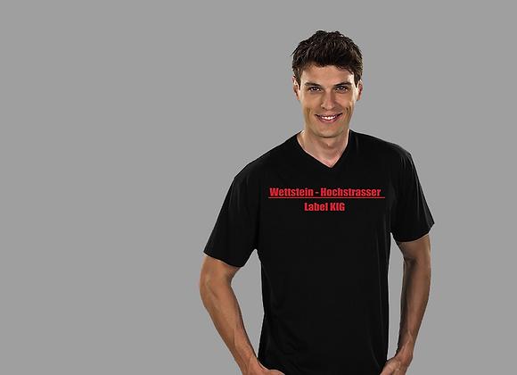 T-Shirt V-Ausschnitt bestickt Herren
