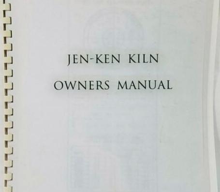 Jen-Ken Kiln Owners Manual