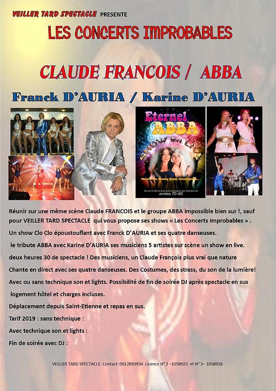 IMPROBABLES Cl. François ABBA.sans tarif