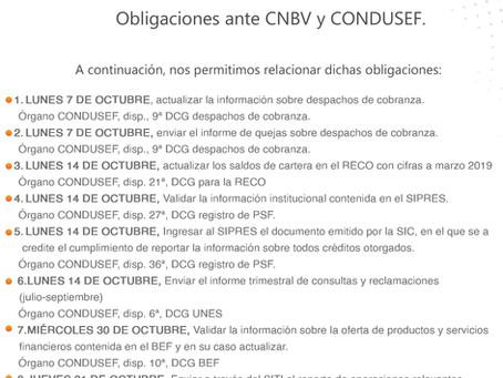 Obligaciones CNBV y CONDUSEF