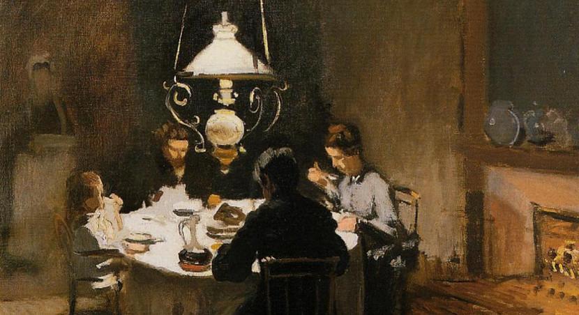 ארוחת הערב, קלוד מונה, שמן על בד, 1869