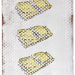 Three yellow Cadillacs