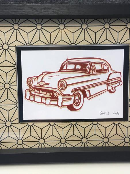 Chevrolet 1953 inkl. Vintagerahmen