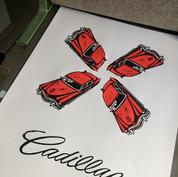 Red Cadillac rising