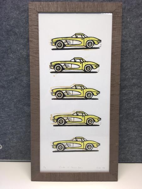Corvette C1 inkl. Vintagerahmen