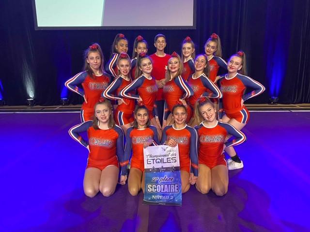 École secondaire Champagnat, Guillaume-Couture - Photo de l'équipe de cheerleading
