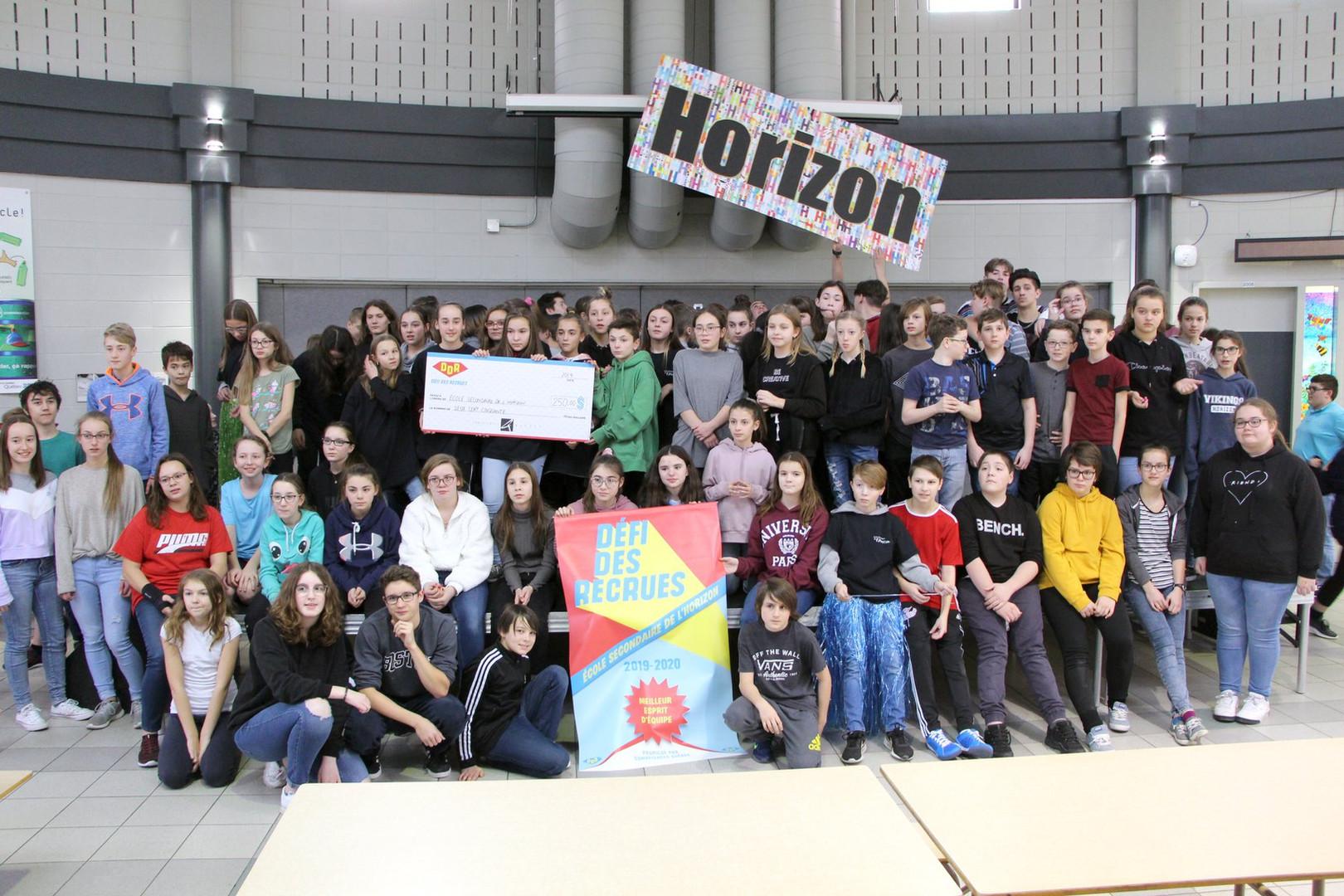 École secondaire de l'Horizon - Photo du Défi des recrues