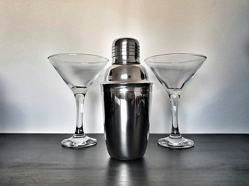 Cocktail Pack | Shaker & Martini Glasses