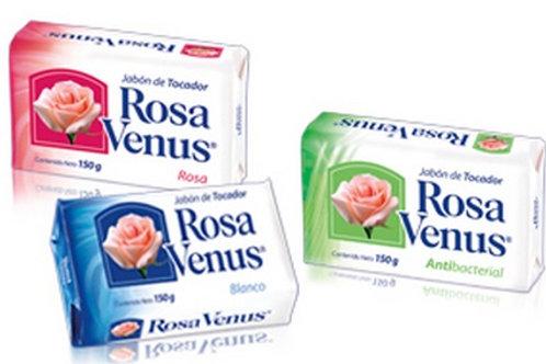 Jabón Blanco en Barra ROSA VENUS de 100gr - LA CORONA