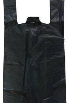 Bolsa Plástica tipo Camiseta Mediana Negra