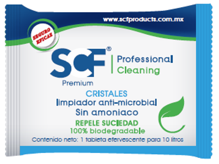 Limpiador de Cristales anti microbial CLN003- BIODEGRADABLE – SCF