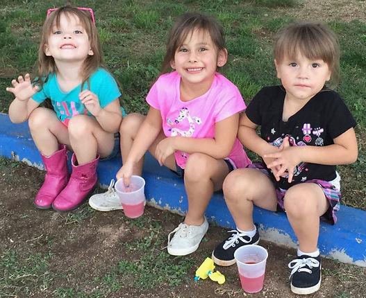 Three preschool girls