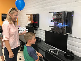 Mother and son in Tech Academy