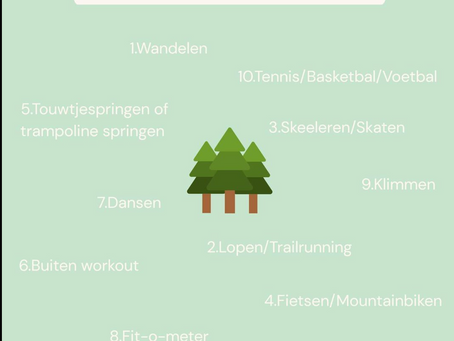 Welke sporten kan je buiten doen?