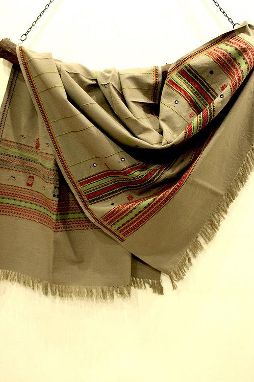 Khaki Kashmiri shawl