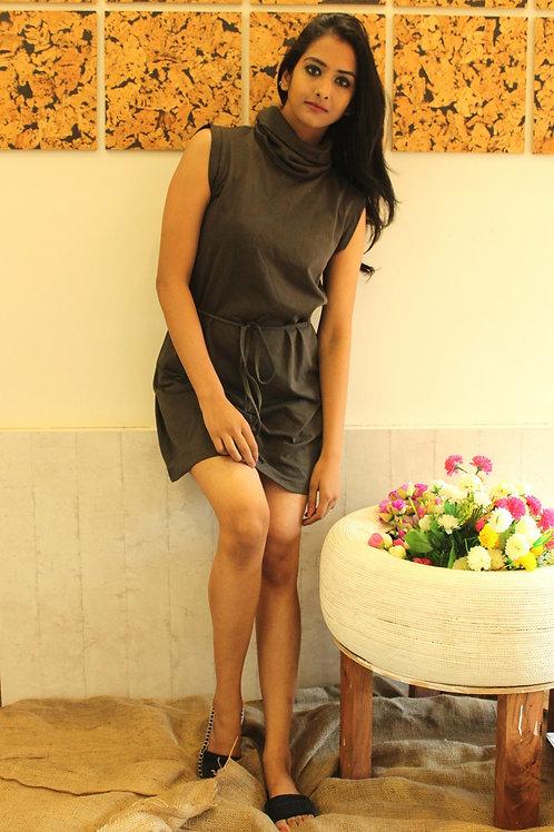 High Neck Short Dress