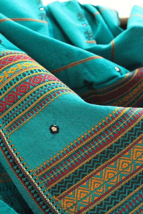 Sky Blue Kashmiri shawl