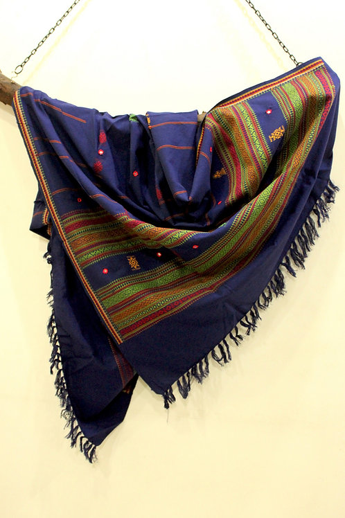 Navy Blue Kashmiri shawl