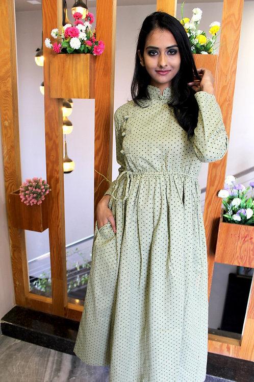 Nepali Green Dress