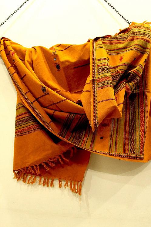 Mustard Kashmiri shawl