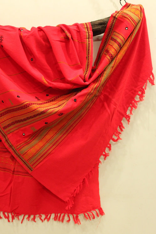 Red Kashmiri shawl