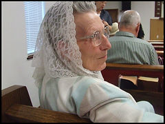 headship,scarf,woman worship in silence