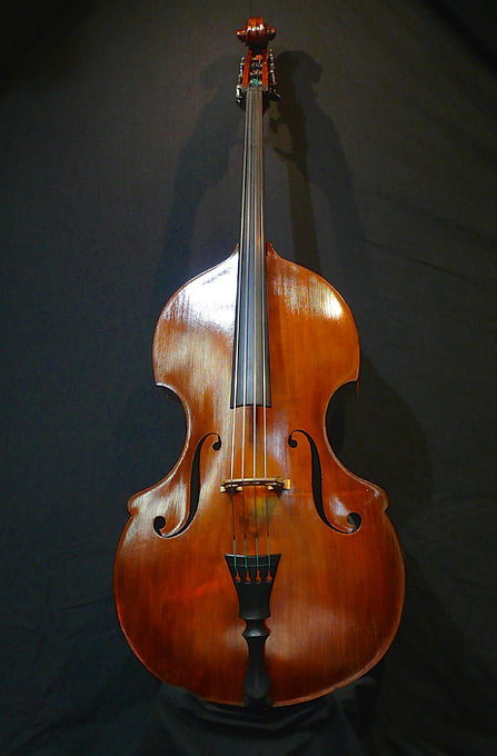 image Busetto built for Chuck Israels- ©2016 by Seth Kimmel  Bass maker/luthier of American made, real wood, hand-carved, double bass violins; Eugene, Oregon, USA
