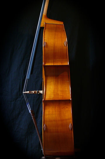 image Western Maple sides Kimmel bass #30 Mill St, Milanese©Seth Kimmel 2013 Bass maker, bass Luthier Eugene Oregon hand carved American Made real wood upright double bass violin images sales