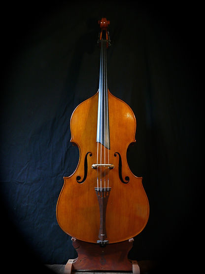 image Kimmel bass #30 Mill St. Milanese ©Seth Kimmel 2013 Bass maker, bass Luthier Eugene Oregon hand carved American Made real wood upright double bass violin images sales