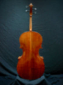 Kimmel 'cello #5 Western Maple back image ©2020 Seth Kimmel