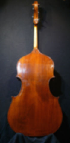 image of Western Maple Back Double Bass ©2016 by Seth Kimmel  Bass maker/luthier of American made, real wood, hand-carved, double bass violins; Eugene, Oregon, USA